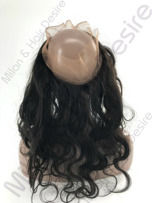 Virgin Peruvian Body Wave 360 Lace Frontal Back