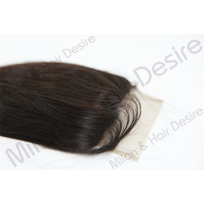 Virgin Peruvian Body Wave Lace Closure Close Up