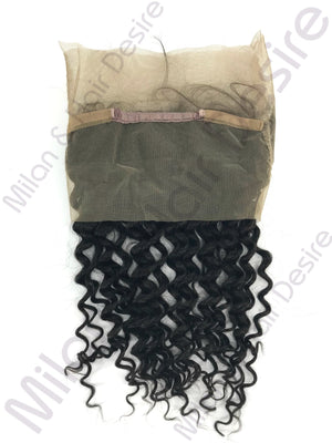 Virgin Peruvian Deep Wave 360 Lace Frontal Packaged Up