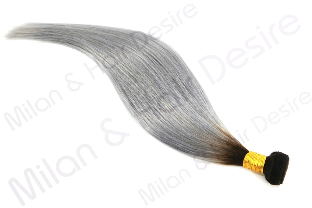 Premium Peruvian Grey With Dark Root
