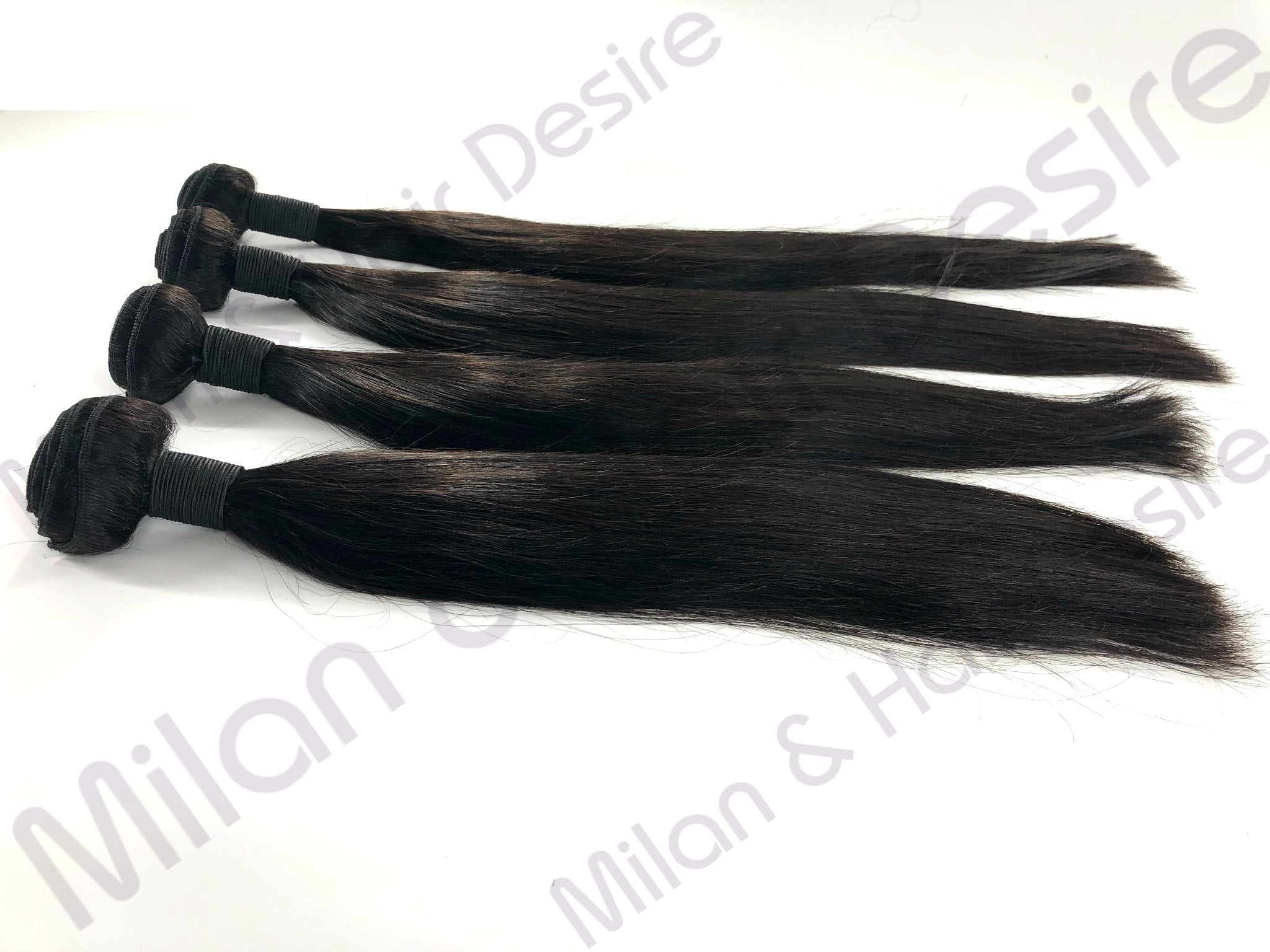 Virgin Brazilian Straight 4 Bundle Deal - milanhairdesire.com