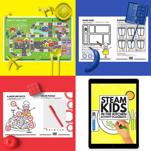 STEAM Kids Printable Placemats