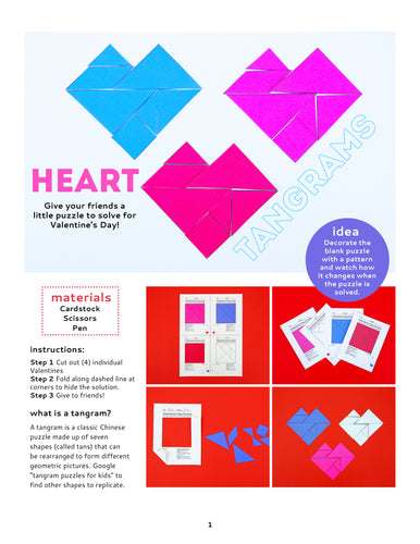 Printable Heart Tangrams