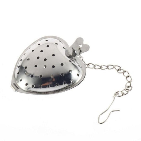 Love Heart Shaped Stainless Steel Tea Infuser for brewing loose leaf organic and herbal tea