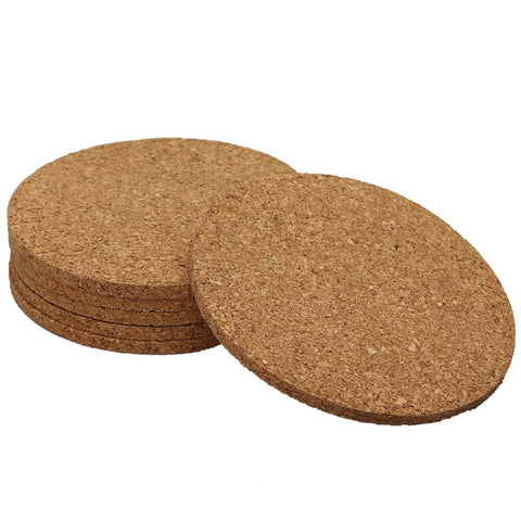 Natural Cork Coasters (pack of 6)