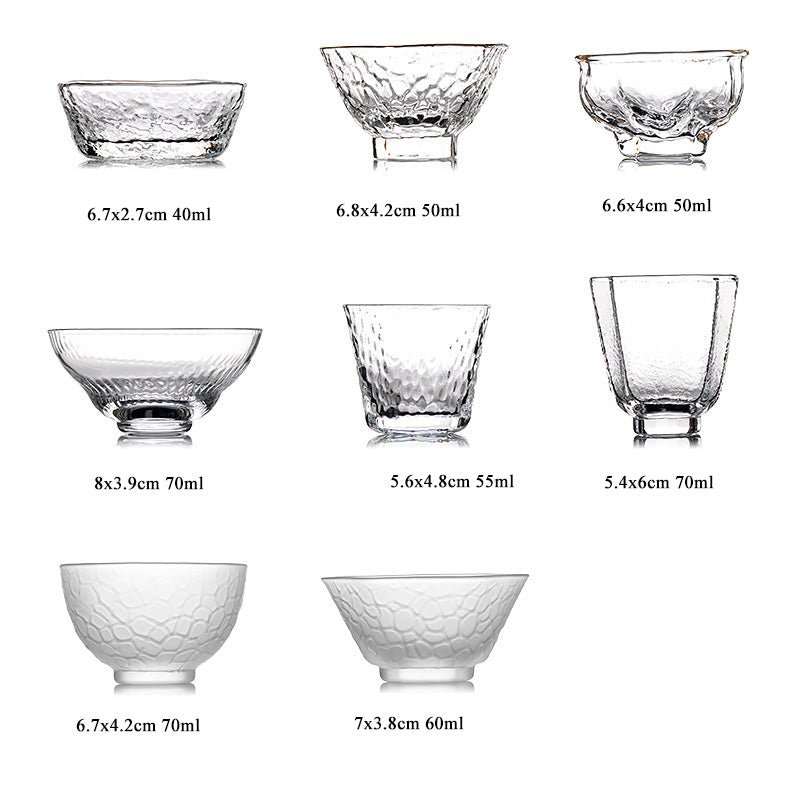 Hand-Crafted Glass Teacups