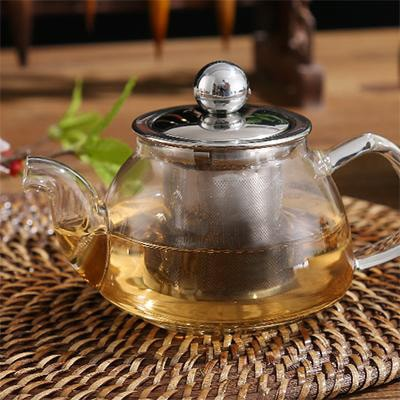 Mini Classic Glass Teapot With Infuser for brewing loose leaf organic and herbal tea