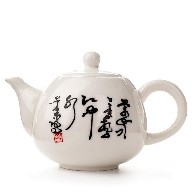 Chinese Porcelain Mini Teapot for brewing loose leaf organic and herbal tea