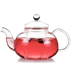 Modern Glass Teapot with Inbuilt Glass Infuser for brewing loose leaf organic and herbal tea