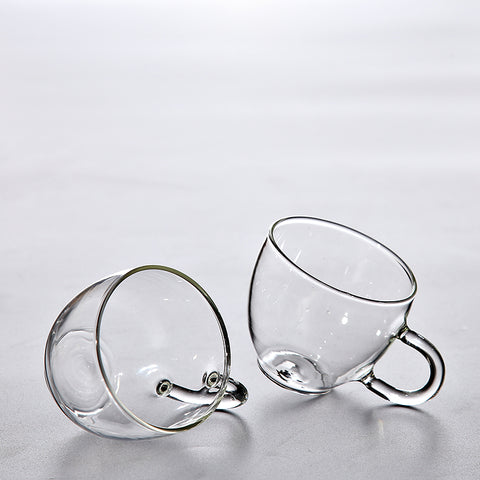Modern Glass Teacup Set