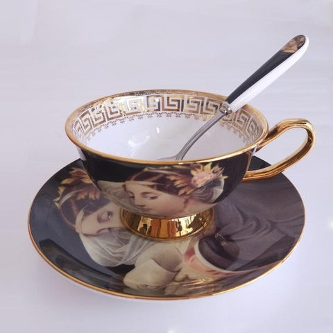 European Style Ceramic Teacup Set