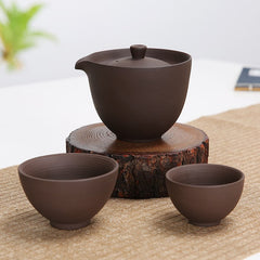 Traditional Chinese Single Teapot and Cup Set