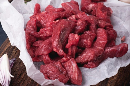 Grass fed beef strips