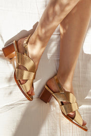 Sandales chaussures no.551 Gold Rivecour Bonny Lyon