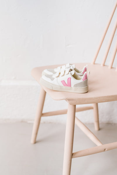 Baskets Kids V-10 Guimauve Rose Veja Bonny Lyon