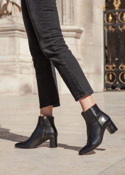 Bottines no.107 Cuir Noir