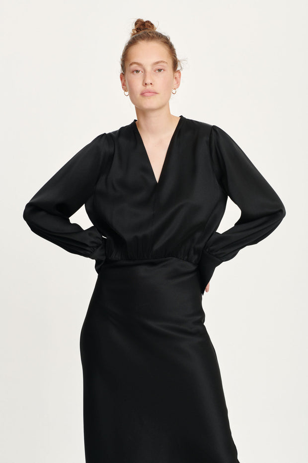 Robe dress Kamo noir Black Samsoe Samsoe Bonny Lyon