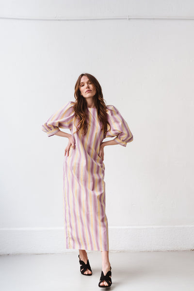 Robe longue Celestina Space stripes  Samsoe Samsoe Bonny Lyon