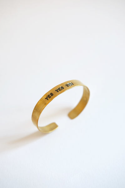 "Bracelet Small Mantra ""Yes Yes Yes"" Atelier 7/12"