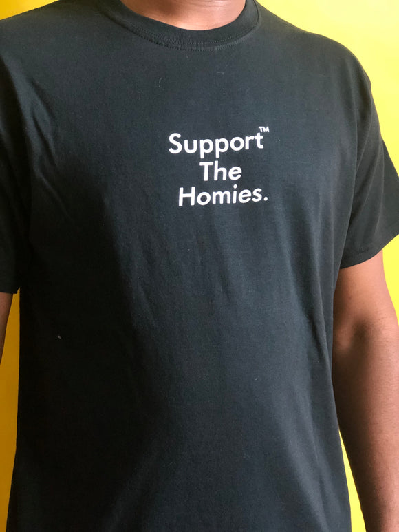 Support The Homies Classic Tee BLACK