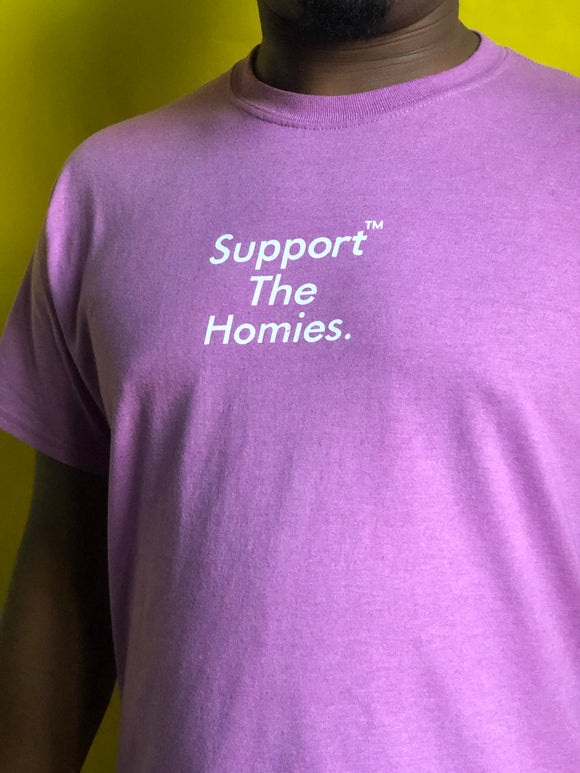Support The Homies Radiant Orchid Tee