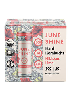 100 Hibiscus Lime - Juneshine Hard Kombucha Delivered By TapRm