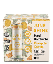 Load image into Gallery viewer, 100 Pineapple Orange - Juneshine Hard Kombucha Delivered By TapRm