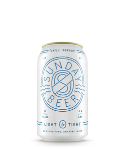 Light+Tight Anytime Lager Beer by Sunday Beer Company delivered by TapRm