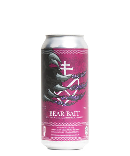 Bear Bait Berliner Weisse Ale with Blackberries - Lickinghole Creek Craft Brewery Delivered By TapRm