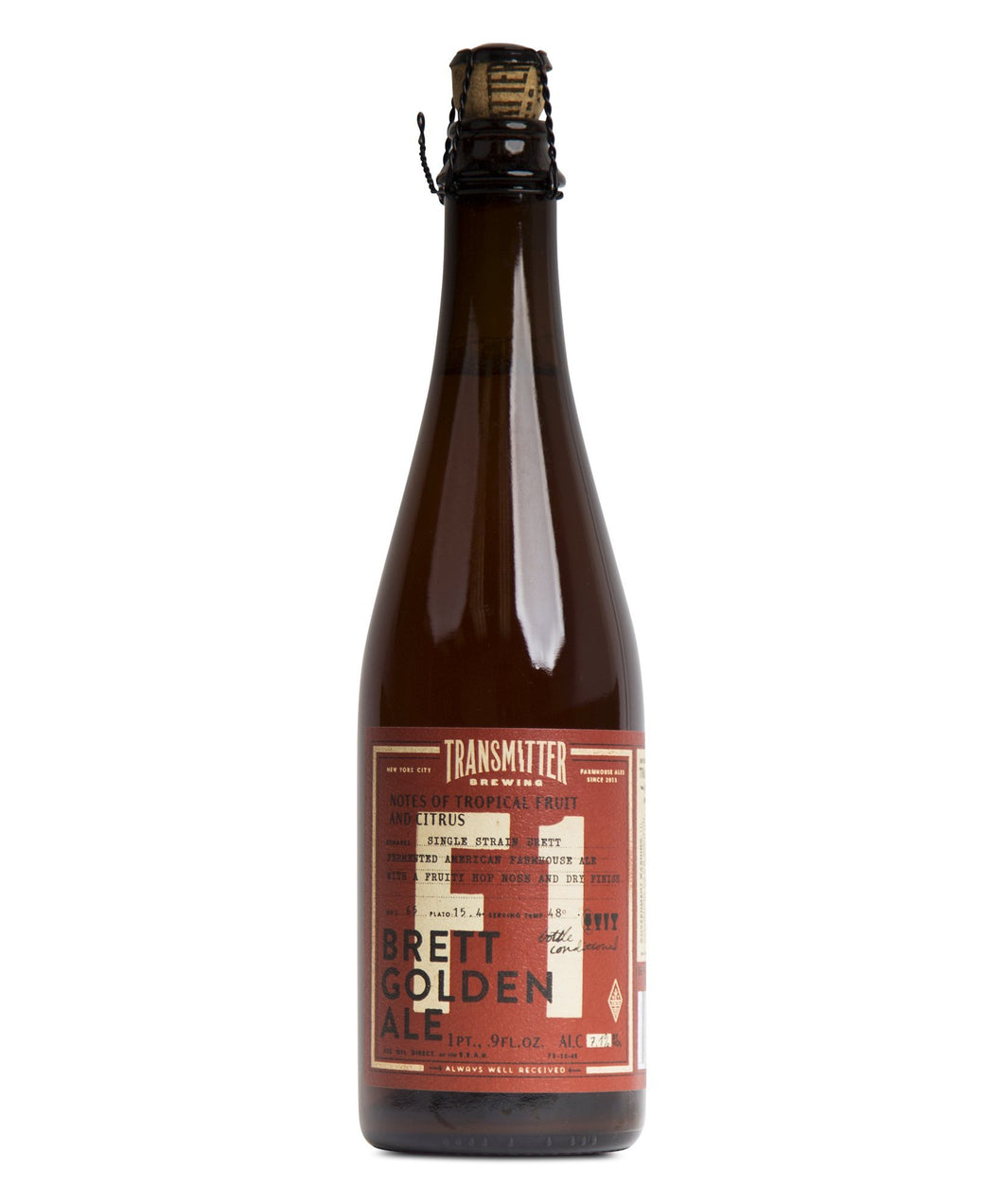 F1 Brett Golden Ale - Transmitter Brewing Delivered By TapRm