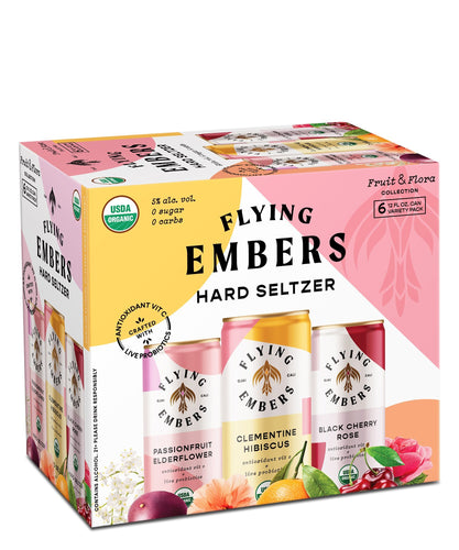 Fruit & Flora Hard Seltzer Variety Pack - Flying Embers Hard Kombucha Delivered By TapRm