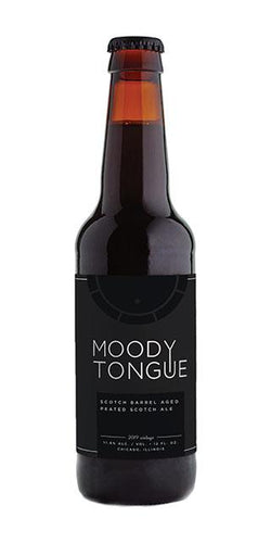 Scotch Barrel Aged Peated Scotch Ale (2019) - Moody Tongue Brewing Company Delivered By TapRm