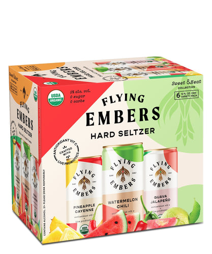 Sweet & Heat Hard Seltzer Variety Pack - Flying Embers Hard Kombucha Delivered By TapRm