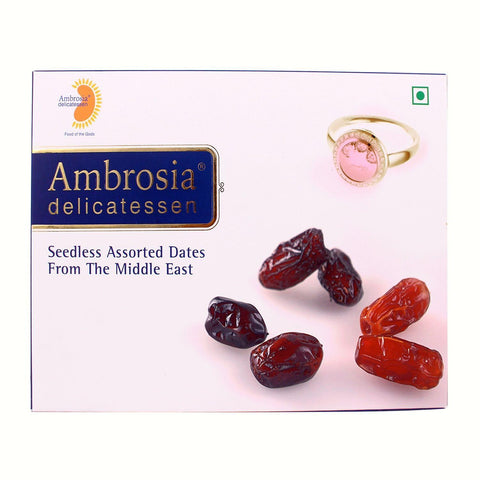 Ambrosia Delicatessen Seedless Assorted Dates from The Middle East
