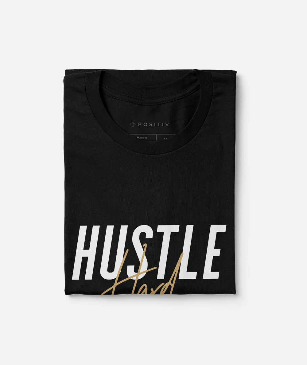 Hustle Hard T-Shirt | Black