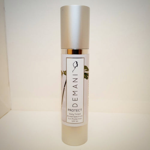 Protect Daily Tinted SPF 50 - Demani Skincare, Cream, Serum