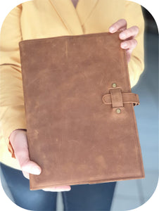 A4 Leather Journal Cover