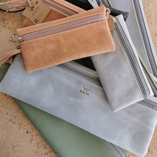Large LEATHER Pencil bag
