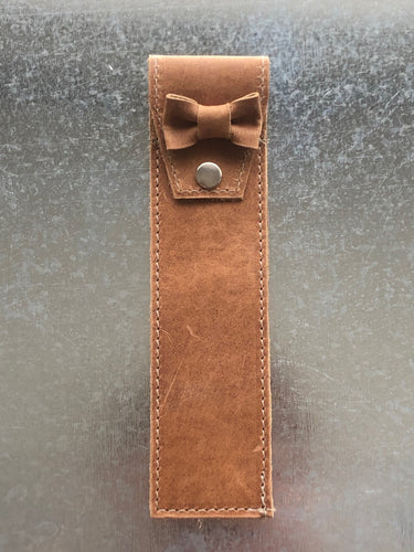 Leather PEN HOLDER sleeve