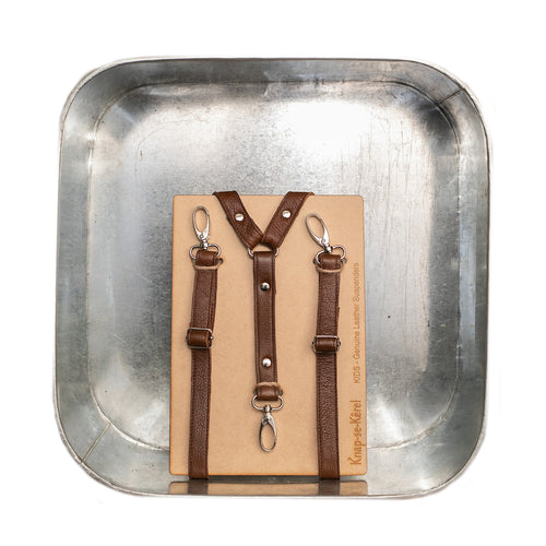 Leather Suspenders Kids