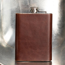 Load image into Gallery viewer, Hip Flask with Leather Pocket Men