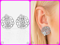 Carefree Carnation - Silver Clip-On