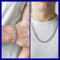 Big Win Necklace & Goalpost Bracelet - Silver Set