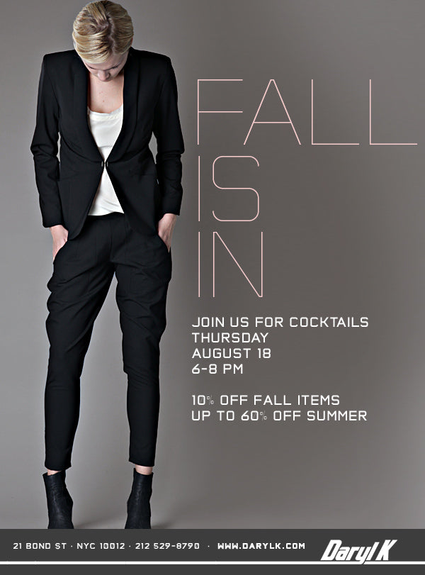COME IN FOR FALL