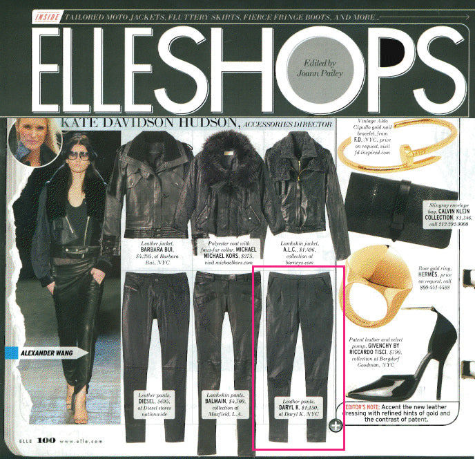 Arriving in August - Leather Jodhpurs featured in ELLE