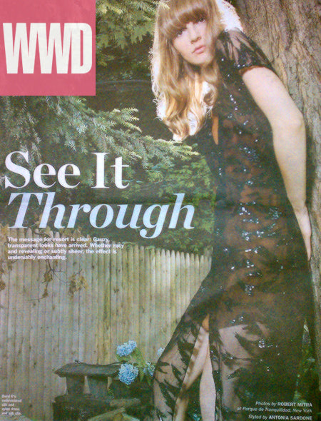 Daryl K embroidered silk tulle tea gown, full page in Tuesday's WWD!