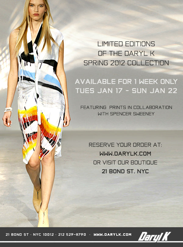 SS2012 LIMITED EDITION COLLECTION. RESERVE NOW!