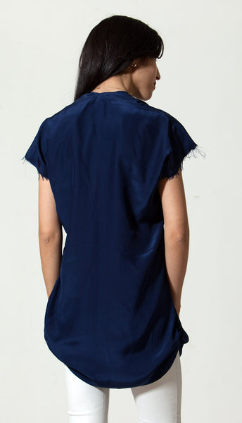Indigo Silk Empty Top