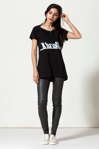 Slashneck Empty T: Black Reverse Logo