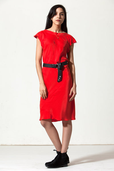 Rodilla Dress: Fire Engine Red